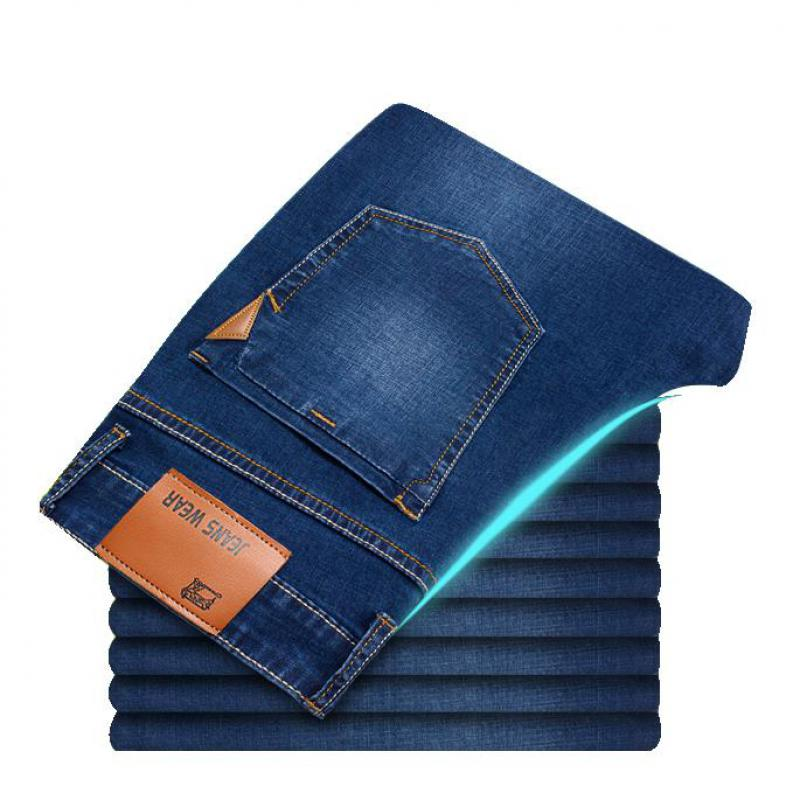 2019 Summer New Men's Thin Light Jeans Professional Jeans Store Men Jeans Classic Original Distressed 100% Cotton