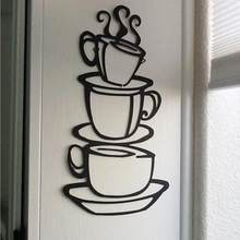 Wall Stickers Home Decor Removable DIY Kitchen Decor Coffee House Cup Decals Vinyl Wall Sticker Muurstickers Pegatinas De Pared(China)