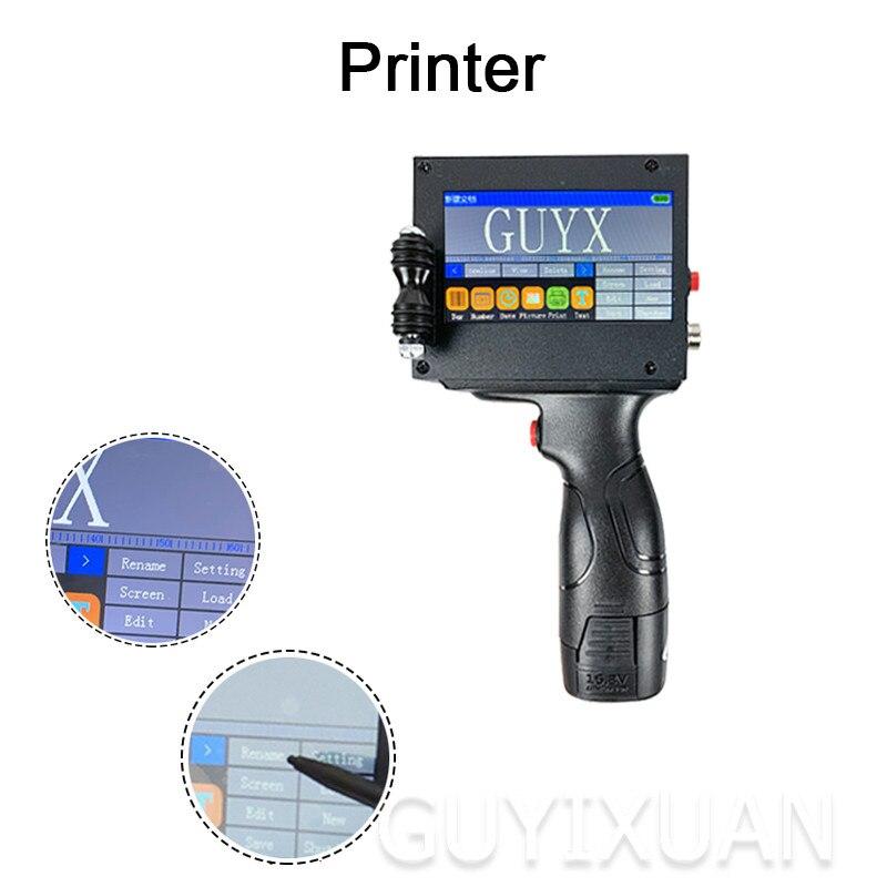 Handheld Small Smart Inkjet MX3 Printer Product Date Food Packaging Coder Batch Printing Tool
