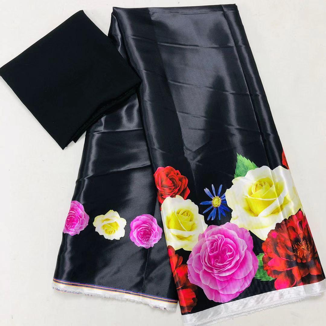 Лошадь Анкара ткань африканские принты шелковая атласная ткань свадебное платье ткань 2019 нигерийский macthing 2 ярда шифон Анкара Дашики