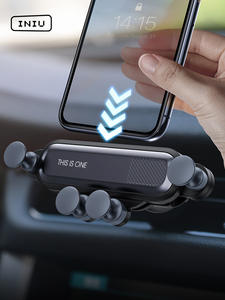 INIU Gravity Car Holder For Phone in Car Air Vent Clip Mount No Magnetic Mobile Phone