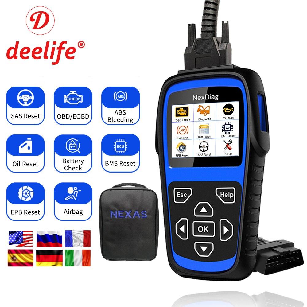Deelife полная система диагностический инструмент OBD2 сканер (для Mercedes Benz) подушка безопасности ABS SRS OBD 2 считыватель кодов SAS BMS EPB обслуживание м...