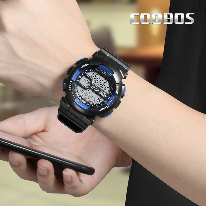 Trend Men's Sports Digital Watch Military Waterproof Mens Watches  LED Luminous WristWatch Male Casual Rubber Clock reloj hombre 2