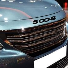 Для Peugeot Стикеры 5008 багажник Стикеры капюшон Стикеры Peugeot 5008 GT 508 4008 408 3008 308 2008 208 307 207 201 301 GT линии черный