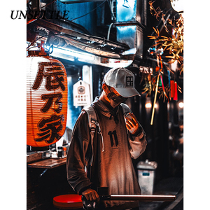 Image 3 - 2020 Autumn Harajuku Towel Embroidery Japanese Men/Women Hip Hop Pullover Hoodie Streetwear Sweatshirt  Casual Hipster Tops