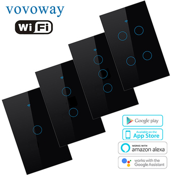 WIFI smart touch switch US standard light switch smart life APP remote control supports smart home alexa with Google Assistant broadlink tc2 wifi switch touch panel us au standard wall light switch app control via broadlink rm pro smart home automation