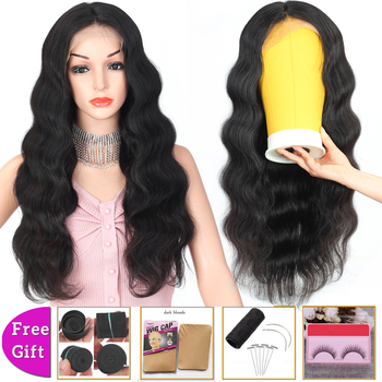 цена на brazilian hair wigs body wave wig 13x4 lace front wig short lace front human hair wigs for women bob lace front wigs Non-Remy