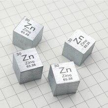 10*10*10mm zinco metálico tabela periódica cubo zn 99.995% puro zinco cubo maravilhoso elemento coleção ofício