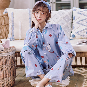 Image 2 - BZEL Cotton Pajamas Set Autumn Winter Women Sleepwear Cartoon 2PCS Nighty Cute Nightwear Suit Female Home Wear Pijama Pyjama 3XL