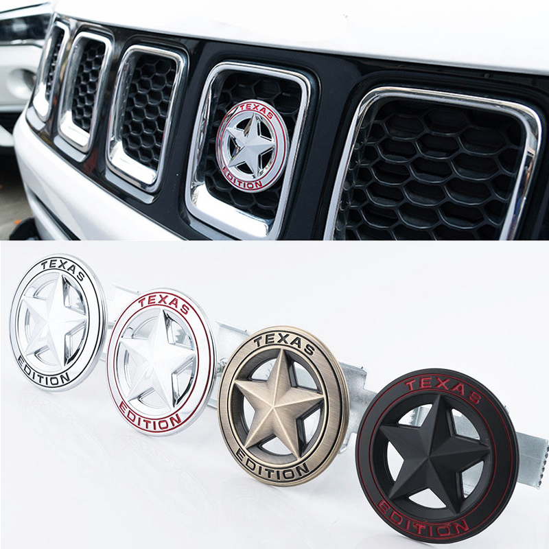 Car Styling Texas Edition Badge Emblem Decal Sticker For Jeep Wrangler Compass Grand Cherokee Patriot Liberty Renegade Commander
