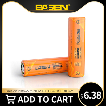 BASEN 2019 18650 3500mAh High Power Discharge 30A Large Current Rechargeable battery high discharge batteries for Flashlight jouym icr18650 30q 18650 3000mah rechargeable battery 30a large current 18650 high current power discharge welding nickel sheets