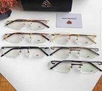 Brand famous optical glasses man women metal frame fill prescription mens luxury designer glasses frames