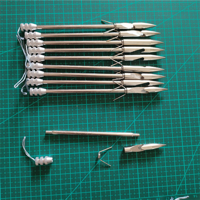 20/50pcs Stainless Steel Slingshot Catapult 146mm Dart Fishing Slingshot rifle Arrow Shooting Catapult Dart Hunting fishing set 5