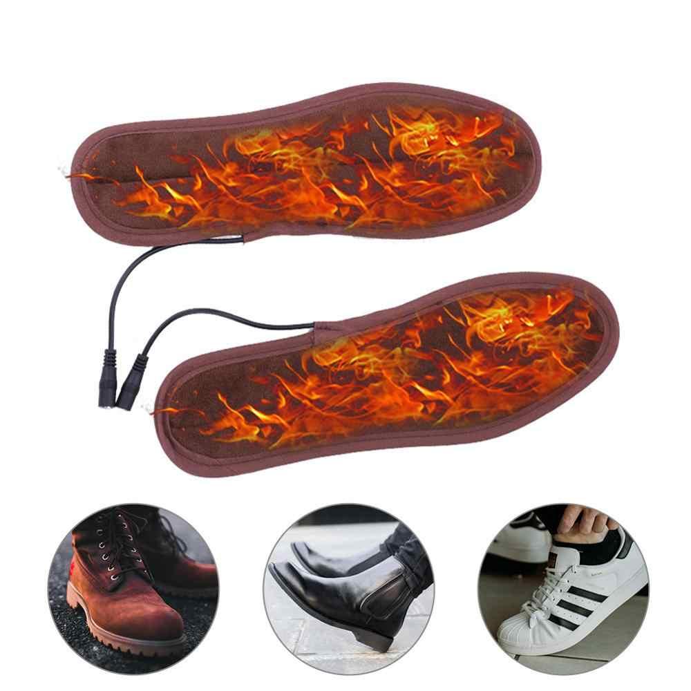 1 زوج USB ساخنة النعال قدم دفئا جورب وسادة لينة Lint تسخين كهربائي نعال الحذاء الشتاء في الهواء الطلق الرياضة قدم الاحترار النعال