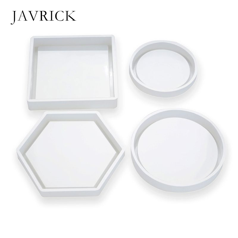 DIY Crystal Epoxy Tea Coaster Mould Jewelry Decoration Silicone Mold Craft Tool DIY Accessories Jewelry Making Tool