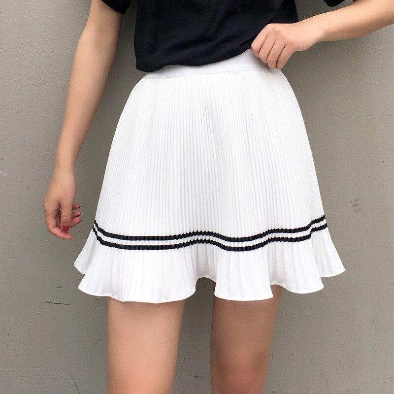 Photo Shoot 2018 Base Skirt Students Chiffon Skirt Pleated Skirt Pants Short Skirt Women's Puff Pants Skirt