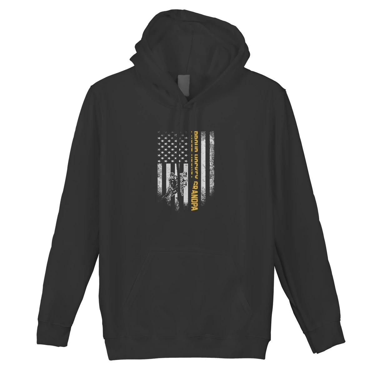 "ADULT HOCKEY grandpa custom gildan hooded sweatshirt /""HOCKEY grandpa HOODIE"