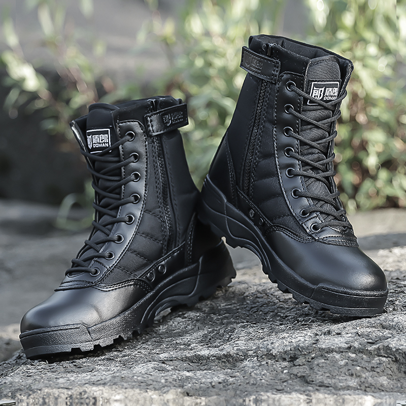 Winter Ultra Light Combat Boots Military Men Special Tactical  Fans Outdoor Hiking Desert Land Combat Boots Hiking Shoes Men
