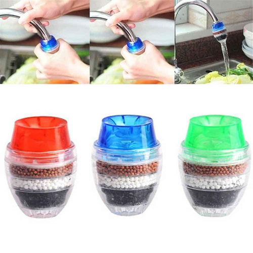 H0753196239f8438cb9a0e3c414a2c061R 5 Layers Water Purifier Filter Activated Carbon Filtration Mini Faucet Purifier Kitchen Faucet Tap Water Purifier Household Tool