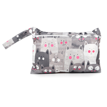 Diaper-Bags Baby for Babies Kawaii Clear-Pattern Storage Kitten Child