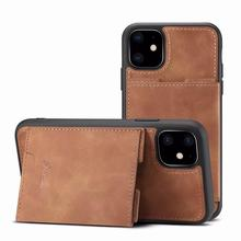 Fashion Leather Case Card Holder Cover Wallet Case For iPhone 11 Pro Max Phone Case For iPhone 6 6s 8 7 Plus X XR XS MAX luxury card holder case for iphone 6 6s 7 8 plus case retro wallet leather cover for iphone 11 pro max xs max xr x phone case