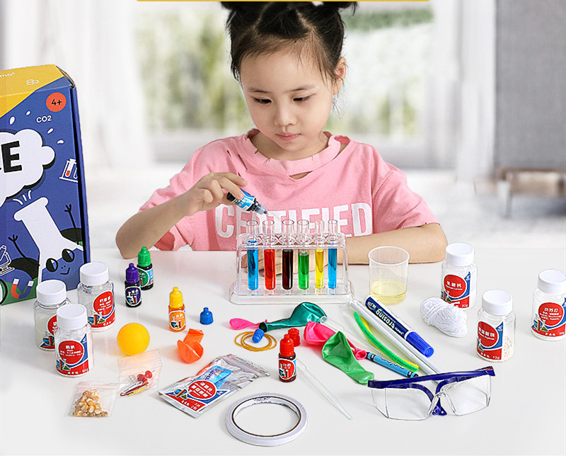 Children's Science Small Experiment Set Diy Handmade Small Making Primary School Students Physical Chemistry Teaching Aids Toys