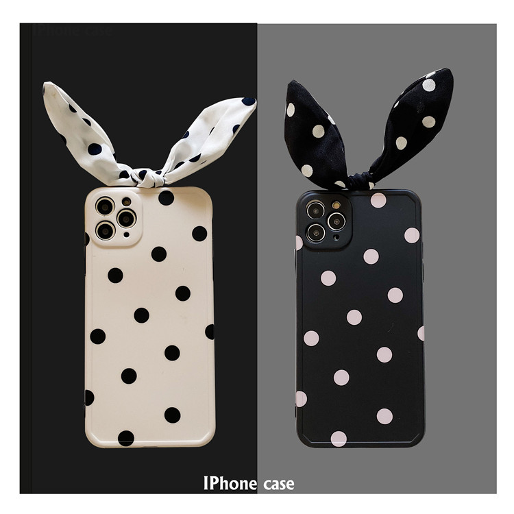 Cute Art Bowknot Wave Point Korean Soft Silicone Phone Case For iPhone 12 Pro Max