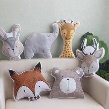 Jouets en peluche doux pour bébé, éléphant, renard, ours, girafe, lapin, animaux en peluche, dessin animé, oreiller, cadeau pour enfants