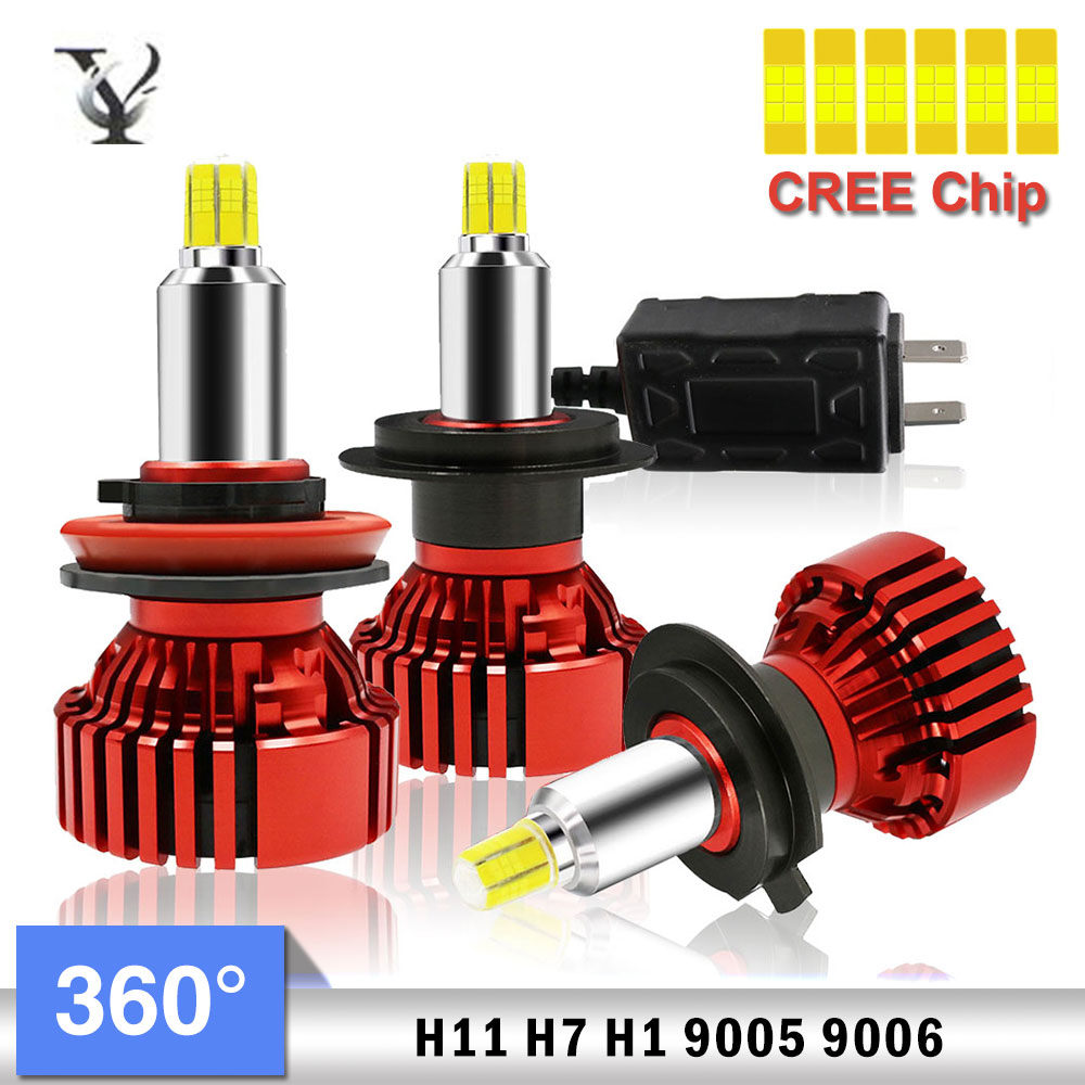 Six-side Illuminate H7 H1 <font><b>H11</b></font> 9005 9006 9012 <font><b>LED</b></font> <font><b>Headlight</b></font> <font><b>Bulb</b></font> Kit CREE Chip 12v 6500k AutoLamp Accessories image