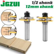2pcs 12mm Shank 1/2 shank Joint Assemble Router Bits Tongue & Groove T-Slot Milling Cutter for Wood Woodwork Cutting Tools(China)