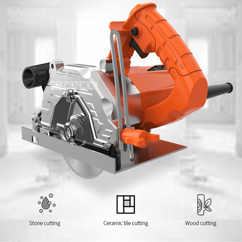 Z1E-JF-110B Mufti-Functional Electric Stone Dustless Marble Tile Brick Cutting Machine Household Small Wood Ceramic Cutter Saw