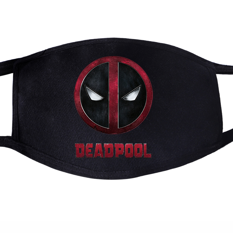 Superhero Deadpool Face Mask Mouth Funny Dead Pool Super Hero 1pcs Dustproof Unisex Anti Dust Cycling Quarantine Black Masks
