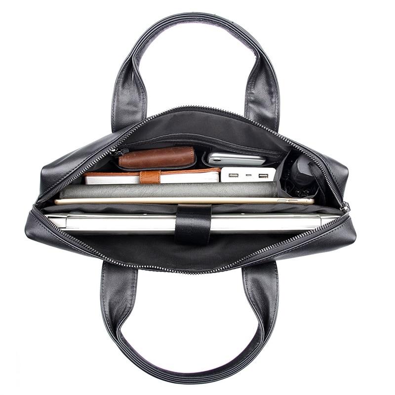 JMD винтажный кожаный мужской черный портфель сумка для ноутбука сумка мессенджер горячая Распродажа 7122A 1 - 6