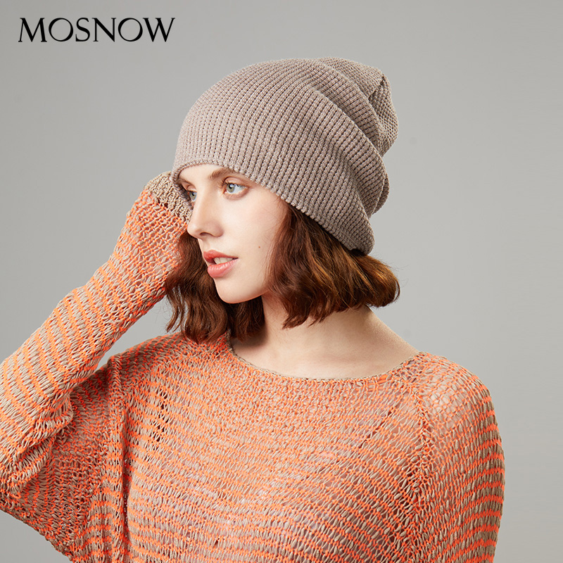Knitted Beanies Hat Winter Female Casual Caps High Quality Warmer Hats For Women Fashion Simple Classic Beanie Bonnet