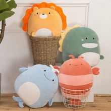 40cm New Super Soft Kawaii Panda&Penguin&Whale Plush Pillow Cartoon Animal Lion&Lobster&Dinosaur Stuffed Doll Bed Cushion Gift