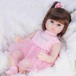 Poupée bébé de 42cm, poupée Simulation de renaissance, en Silicone souple, jouets pour bébés pour filles, cadeaux d'anniversaire, de noël