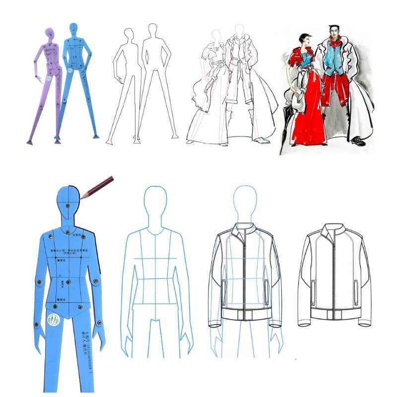 Fashion Ruler Set Clothing Design Human Body Drawing Template Men S And Women S Fashion Figure Template Combination Board Set