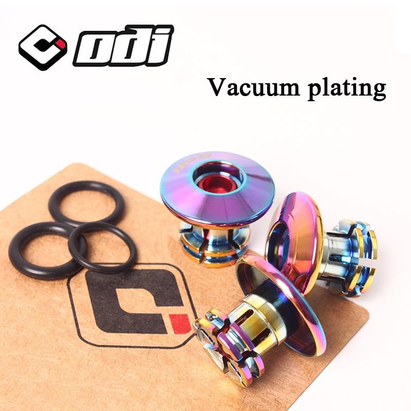 ODI 2 шт крышки для руля MTB противоскользящие прочные Заглушки для велосипедной рукоятки MTB велосипедные легкие Заглушки для BMX DH FR балансиров...