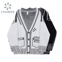 Maglione Cardigan autunno e inverno donna monopetto manica lunga scollo a V giacca lavorata a maglia cappotto moda maglione oversize top