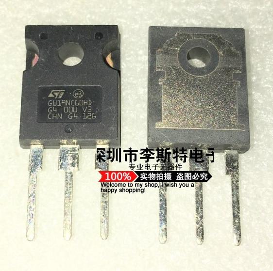 10pcs  GW19NC60HD STGW19NC60HD TO-247  19A 600V ST