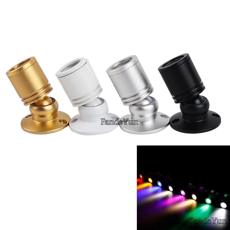 Pode ser escurecido led holofotes led teto para baixo luzes 1w 3 AC85-265V superfície montado lâmpadas para gabinete contador vitrine dc12v