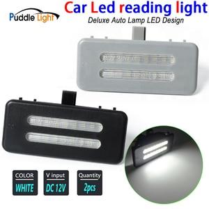 2PCS Led Car Roof Light Car Interior Reading Light Sun Visor Vanity Mirror Lamp For BWM E90 E90N E91 E91N E92 E92N X1 E84 X3 F25