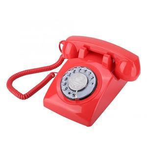 Image 2 - ヴィンテージ電話レトロ固定電話ロータリーダイヤル電話デスク電話コード電話機のためホームオフィス品質