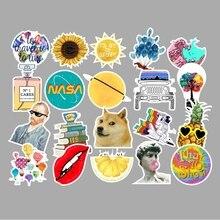 53pcs Cartoon Animal Vsco Stickers Kid Toy Suitcase Laptop Sticker Vsco Girl Toys for Children Graffiti Waterproof Stickers Pack