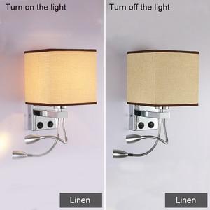 Image 4 - 5 ألوان الحديثة موجز السرير 1/2 رئيس 3 واط وحدة إضاءة led جداريّة مصابيح السباكة خرطوم الروك الذراع القراءة جدار الإضاءة النسيج ZBD0014