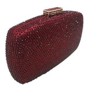 Image 2 - Boutique De FGGไวน์สีแดงเพชรผู้หญิงเย็นกระเป๋าและClutchesสุภาพสตรีค็อกเทลคริสตัลคลัทช์กระเป๋าปาร์ตี้