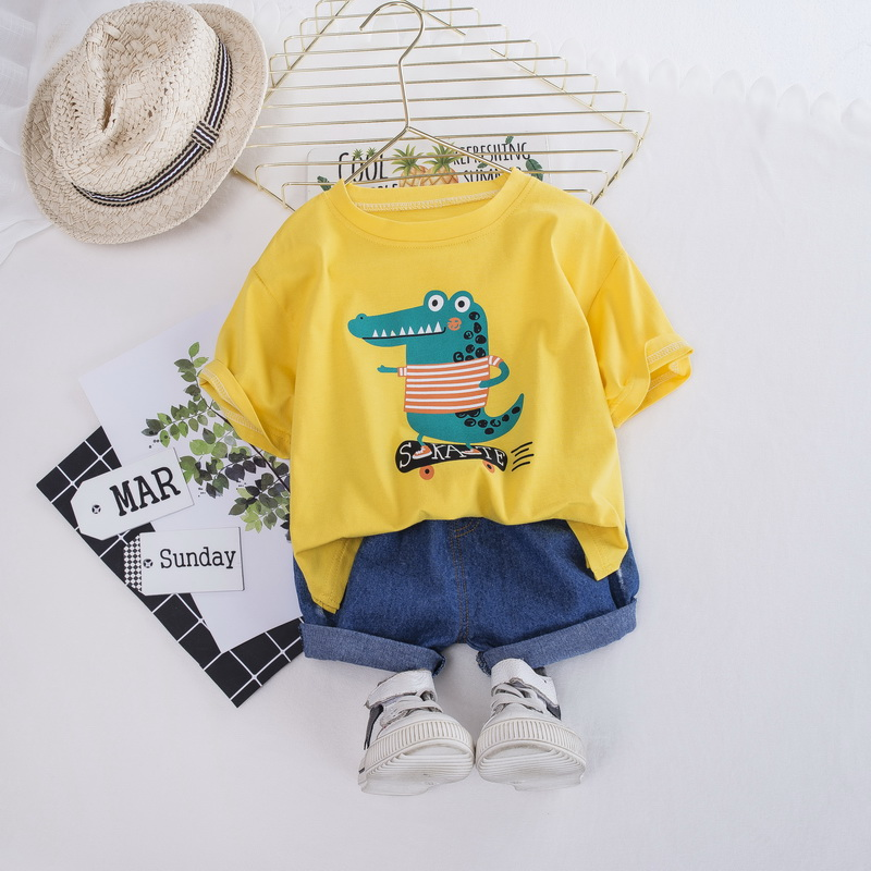 Kids Baby Boys Girls Infant Floral Clothes Hawaii T shirt Top+Shorts Outfit 2pcs
