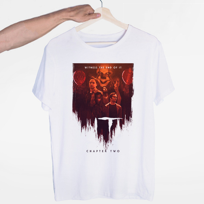 Men's Pennywise Thriller Movie It: Chapter Two T-shirts Men Women Summer Personality Horror Movie Print Casual T Shirt Tee Tops image