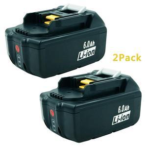 2 шт. BL1860 18В 6000 мАч литий-ионная аккумуляторная батарея для электроинструментов Makita 194309-1 BL1815 BL1830 BL1840 LXT400 Светодиодная лампа