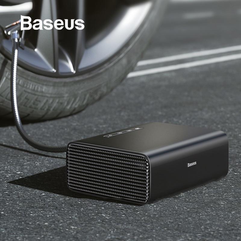 Baseus 12V Car Air Compressor Intelligent Auto Tire Inflatable Pump Mini Portable Electric Car Tyre Inflator Compresor